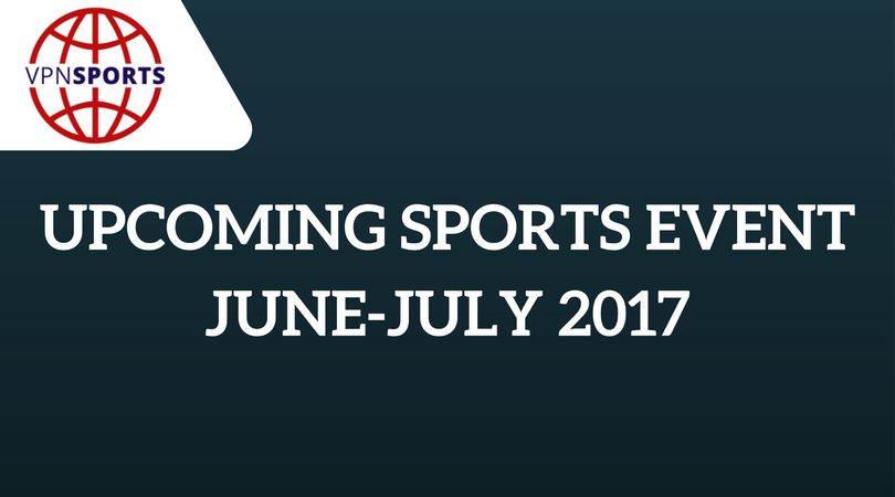 Upcoming sports events 2017