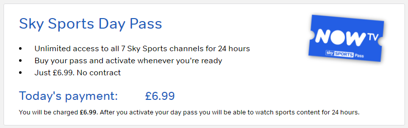 watch sky sports day pass now tv