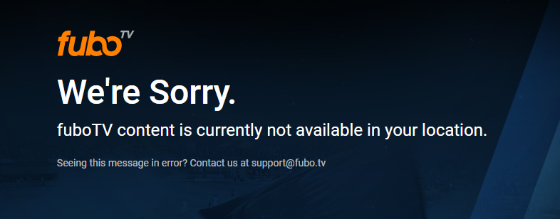 FUBO TV is not available