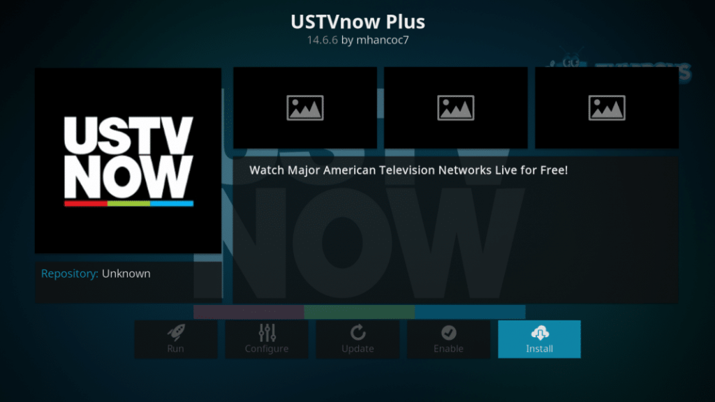 Ustvnow addon on Kodi