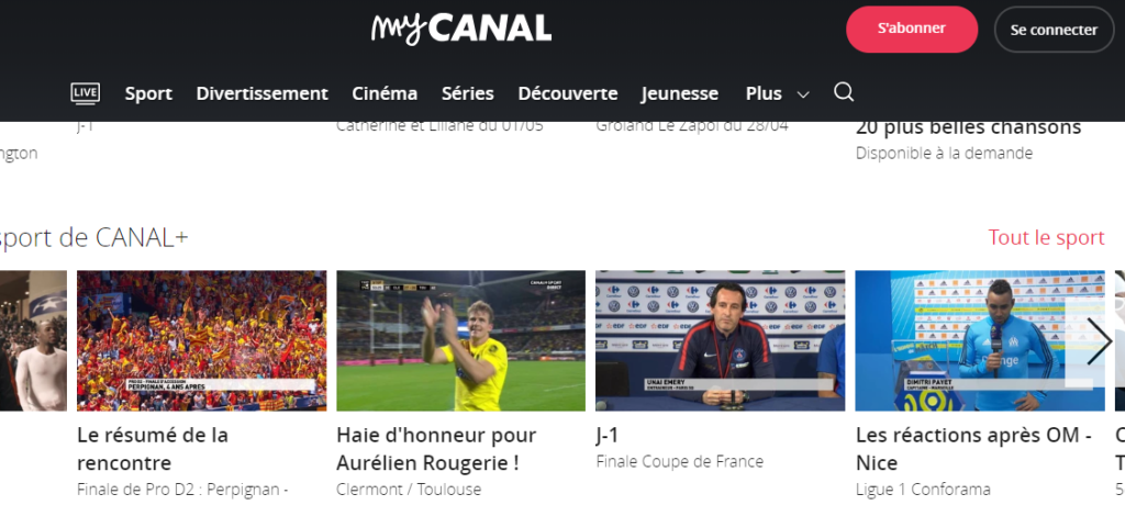watch canal outside france for free vpnsports. Black Bedroom Furniture Sets. Home Design Ideas